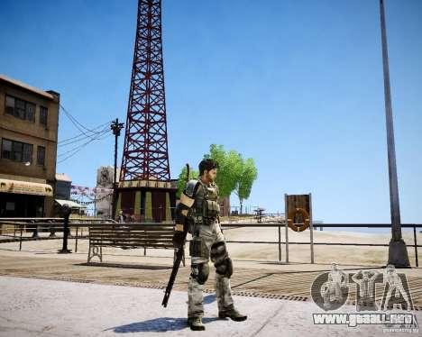 Chris from Resident Evil 5 para GTA 4 adelante de pantalla