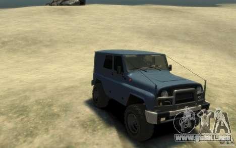 UAZ Hunter final para GTA 4 vista hacia atrás