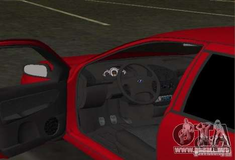 LADA Kalina 1119 para GTA Vice City vista interior