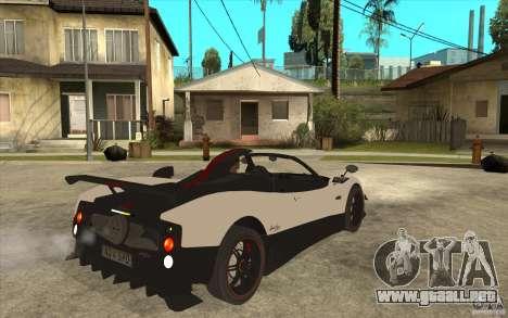 Pagani Zonda Cinque Roadster para la visión correcta GTA San Andreas