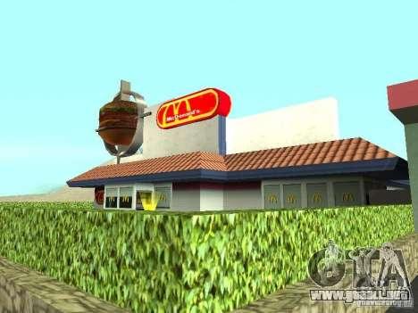Mc Donalds para GTA San Andreas sexta pantalla