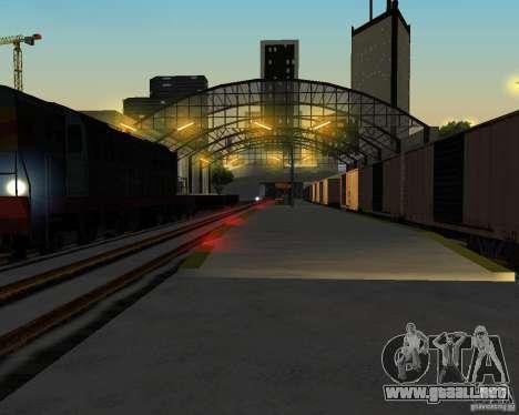 Nueva estación de ferrocarril para GTA San Andreas quinta pantalla