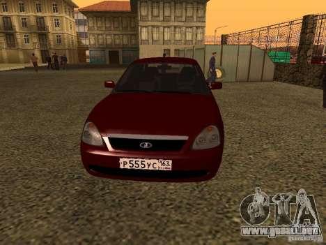 LADA 2170 Premier para GTA San Andreas left