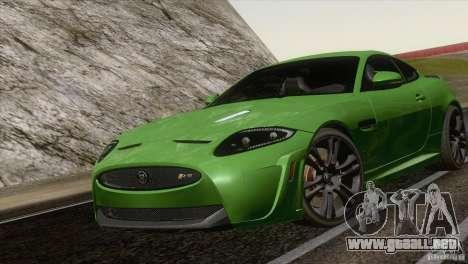 Jaguar XKR-S 2011 V1.0 para GTA San Andreas vista posterior izquierda