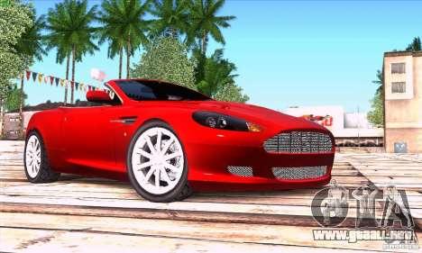 Aston Martin DB9 para la visión correcta GTA San Andreas