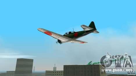 Zero Fighter Plane para GTA Vice City left