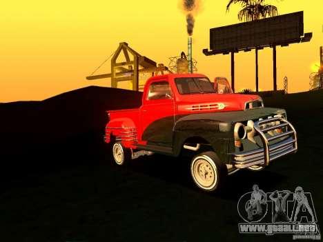 Ford Pick Up Custom 1951 LowRider para visión interna GTA San Andreas