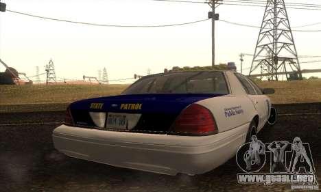 Ford Crown Alabama Police para GTA San Andreas left