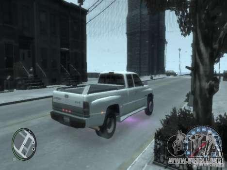 Dodge Ram 3500 para GTA 4 Vista posterior izquierda