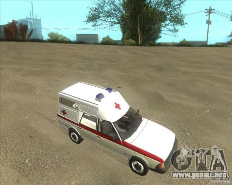 Ambulancia AZLK 2901 para GTA San Andreas left