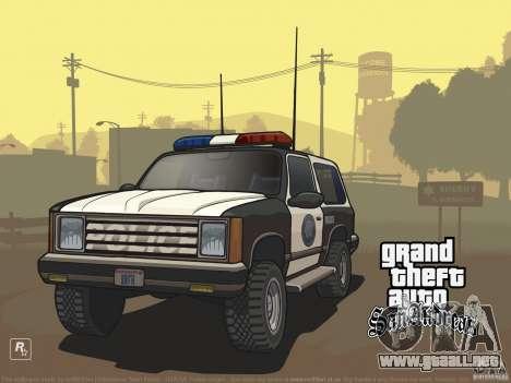 Pantalla de arranque hermosa para GTA San Andreas tercera pantalla