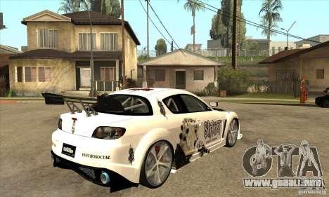 Mazda RX8 Slipknot Style para la visión correcta GTA San Andreas