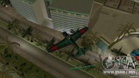 Zero Fighter Plane para GTA Vice City visión correcta