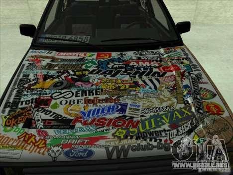 Volkswagen Golf 2 Rat Style para GTA San Andreas left