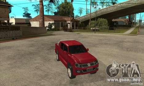 Volkswagen Amarok 2010 para GTA San Andreas vista hacia atrás