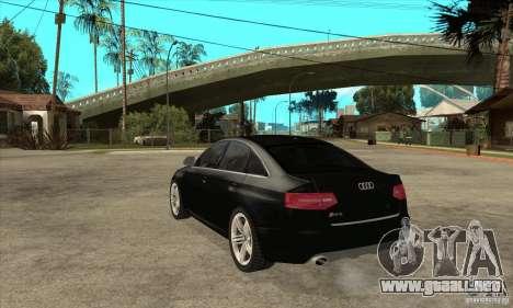 Audi RS6 2010 para GTA San Andreas vista posterior izquierda