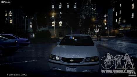 Chevrolet Impala Unmarked Police 2003 v1.0 [ELS] para GTA motor 4