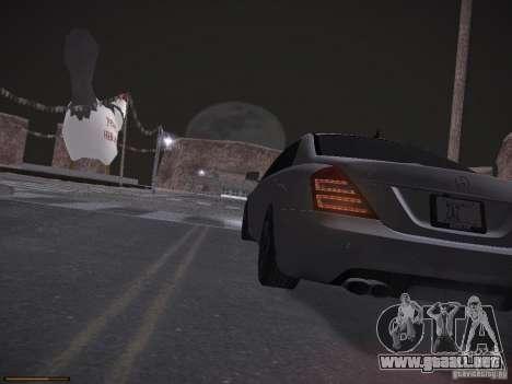 Mercedes Benz S65 AMG 2012 para la vista superior GTA San Andreas