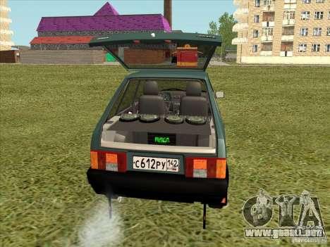 VAZ 2109 Final para GTA San Andreas vista hacia atrás