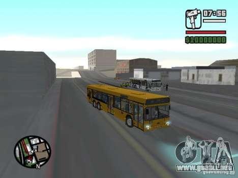 MAZ 107.466 para GTA San Andreas vista hacia atrás