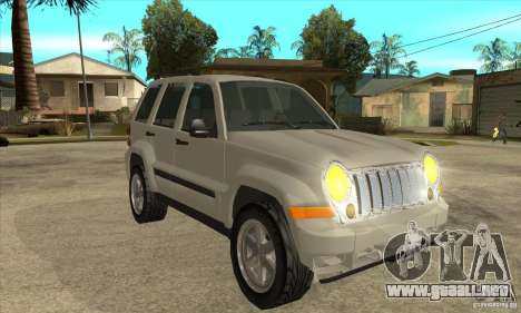 Jeep Liberty 2007 Final para GTA San Andreas vista hacia atrás