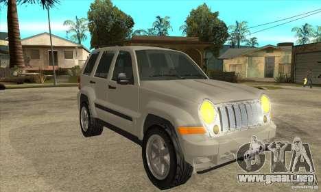Jeep Liberty 2007 Final para GTA San Andreas vista hacia atrás