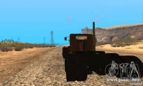 Duel Peterbilt para GTA San Andreas left