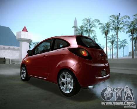 Ford Ka 2011 para visión interna GTA San Andreas
