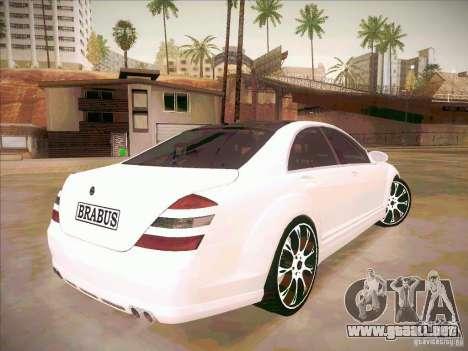Mercedes-Benz S 500 Brabus Tuning para vista lateral GTA San Andreas