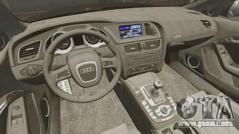 Audi RS5 2012 para GTA 4 vista lateral