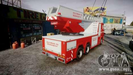 Scania Fire Ladder v1.1 Emerglights red [ELS] para GTA 4 vista interior