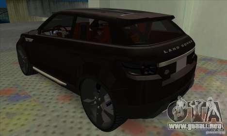Land Rover LRX para la visión correcta GTA San Andreas