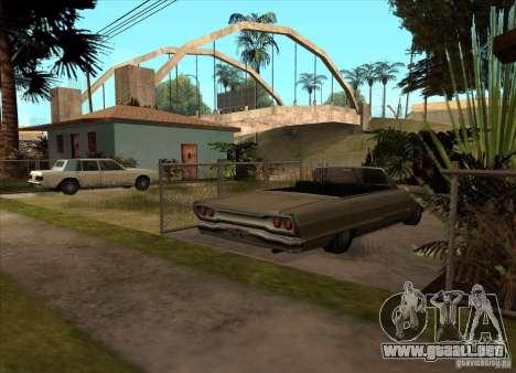 Vehículos estacionados en la calle Grove para GTA San Andreas tercera pantalla
