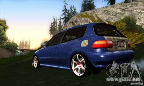 Honda Civic EG5 para GTA San Andreas vista posterior izquierda