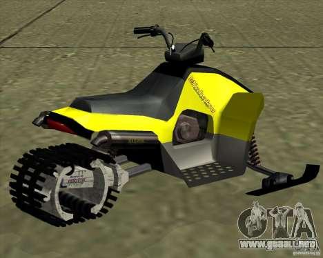 Snowmobile para GTA San Andreas left