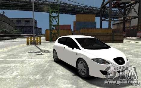Seat Leon Cupra Light Tuning para GTA 4 vista hacia atrás