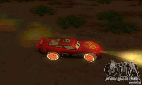 MCQUEEN from Cars para visión interna GTA San Andreas