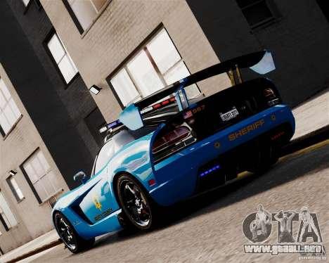 Dodge Viper SRT-10 ACR 2009 Police ELS para GTA 4 Vista posterior izquierda