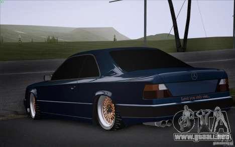 Mercedes-Benz W124 Low Gangster para GTA San Andreas left