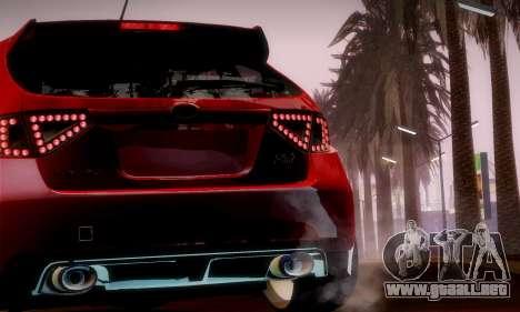 Subaru Impreza WRX Camber para vista lateral GTA San Andreas