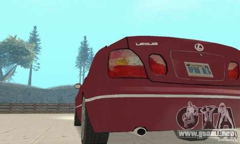 Lexus GS430 1999 para GTA San Andreas vista hacia atrás