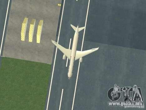 Airbus A350-900 Singapore Airlines para visión interna GTA San Andreas