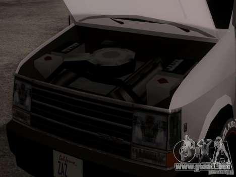 Plymouth Grand Voyager 1970 para GTA San Andreas vista hacia atrás