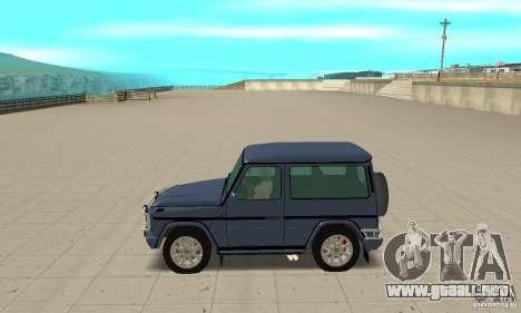Mercedes-Benz G500 1999 Short [with kangoo v1] para GTA San Andreas left