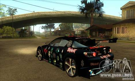 Mazda RX8 Slipknot Style para GTA San Andreas vista posterior izquierda