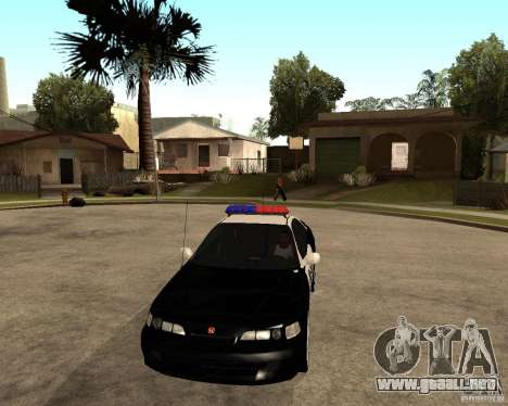 Honda Integra 1996 SA POLICE para visión interna GTA San Andreas