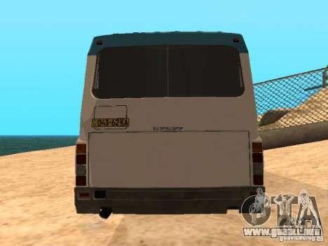 LAZ 52527 para GTA San Andreas vista posterior izquierda