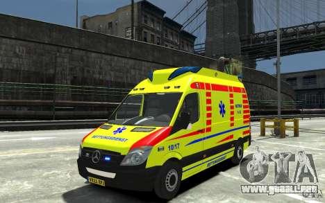 Mercedes-Benz Sprinter 2011 Ambulance para GTA 4