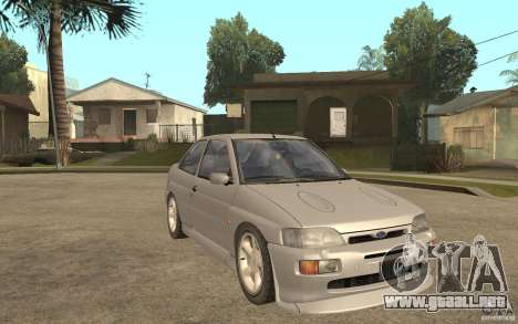 Ford Escort RS Cosworth 1992 para GTA San Andreas vista hacia atrás