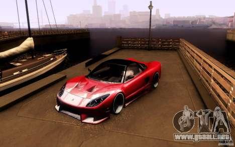 Honda NSX VielSide Cincity Edition para GTA San Andreas left